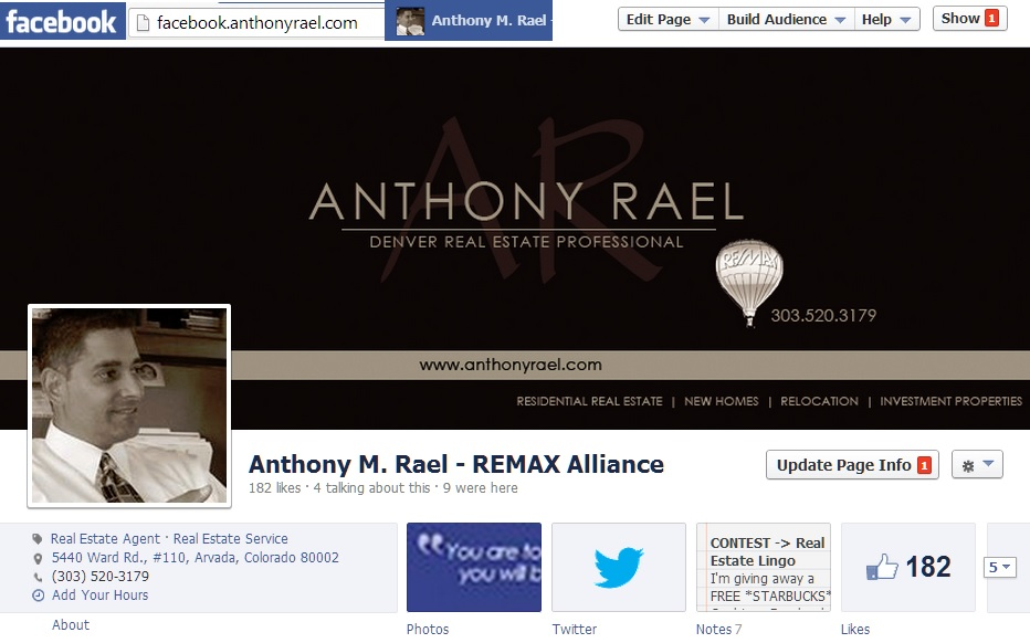 Facebook Business Page for Anthony Rael - facebook.anthonyrael.com