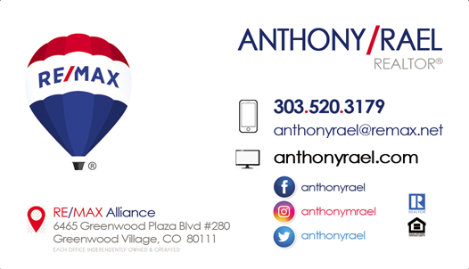 Denver Colorado REMAX Real Estate Agents REALTORS Relocation Experts : Hionest Trustworthy Professional Anthony Rael : REMAX Alliance